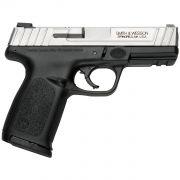 "Pistola Smith & Wesson Sd9ve 4"" Fs 16-Shot Silver Ss Slide Black Poly Calibre .9mm"