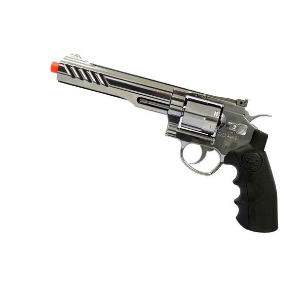 Revolver de Airsoft A Gás Co2 SRC 801s Chromo 6 Polegadas